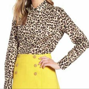 Le Lis Leopard Print Blouse